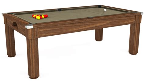 dark taupe dining table 7ft windsor pool table in dark walnut smart taupe cloth