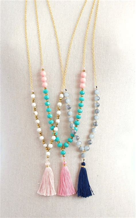 tassels for jewelry trendy beaded tassel necklaces 3 styles chang e 3