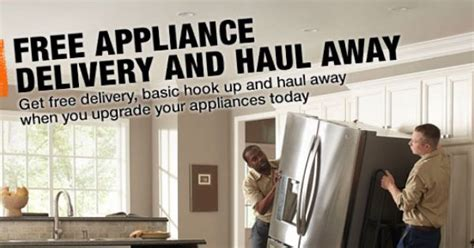 home depot free delivery and haul away every day new
