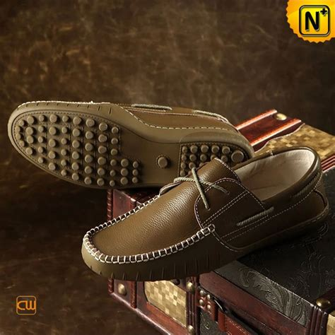 driving boat shoe pebbled leather boat shoes driving loafers cw740107
