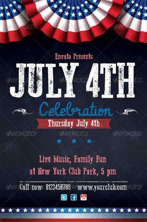 fourth of july flyer template free celebrating independence day 15 fourth of july flyer