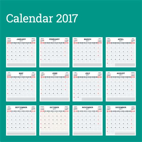 wall calendar design template common 2017 wall calendar template vector 15 vector