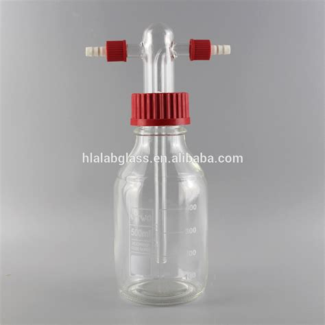 Gas Washing Bottle 100 Ml Botol Cuci 100 Ml gas washing bottles drechsel type with gl14 connections buy gas washing bottles drechsel