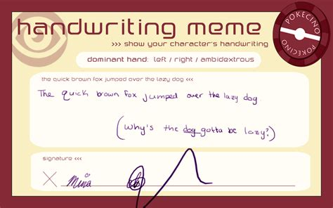 Handwriting Meme - handwriting meme by mina1015 on deviantart