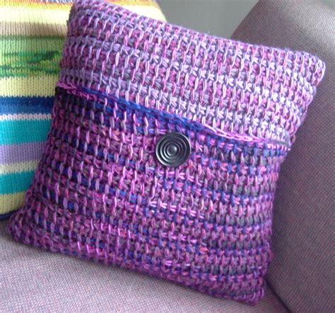 Tunisian Crochet Pillow by Free Crochet Blanket Patterns Hobby