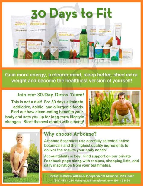 30 Days To Fit Flyer With Your Contact Info By Thegolightlyproject Etsy Creations Arbonne Free Arbonne Flyer Templates