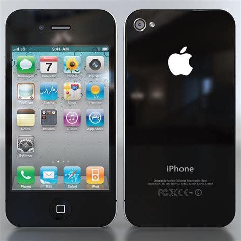 apple iphone 4g 3d model