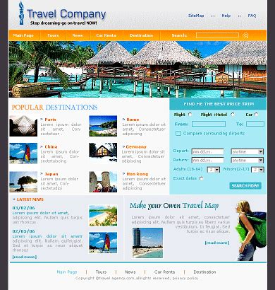 html templates for tourism website free download free website templatesfree yt tv0105 template