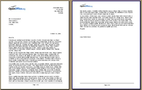 Official Letterhead Definition Openoffice Writer 3 X Defining A Different Page For A Document