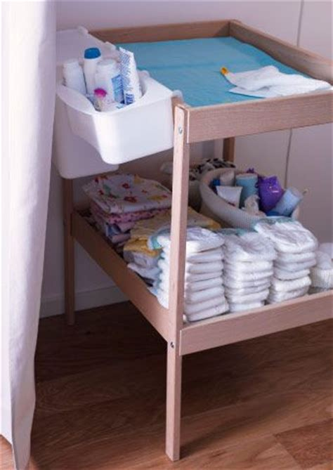 Plastic Baby Changing Table Sniglar Changing Table With L 196 Ttsam Plastic Storage Baskets Ready For A Change Ikea Baby Stuff