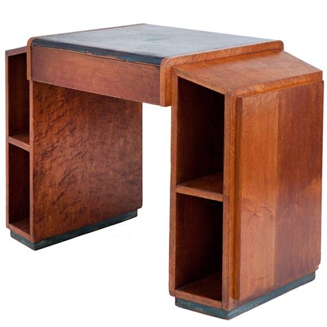 wooden art desk art deco skyscraper desk at 1stdibs