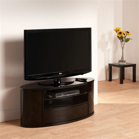 curved design black lcd plasma tv stand 40 50 inch screen