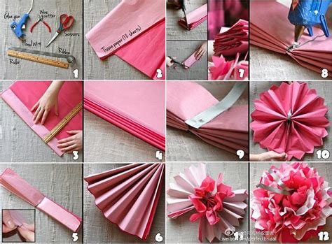 How To Make Paper Decorations For Your Room - diy beautiful tissue paper flowers for wedding