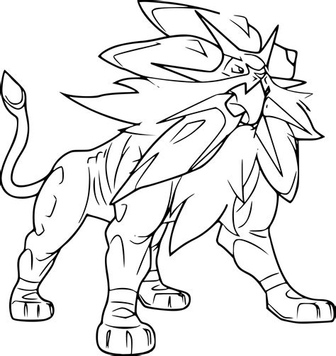 And The Coloring Pages solgaleo coloring page