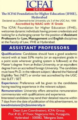 Mba Assistant Professor In Hyderabad by Icfai Hyderabad Wanted Professor Plus Associate