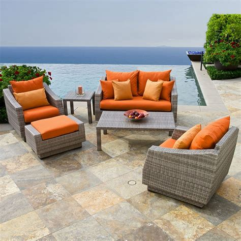 Modern Patio Chairs by Furniture Pc Outdoor Patio Garden Wicker Furniture Rattan