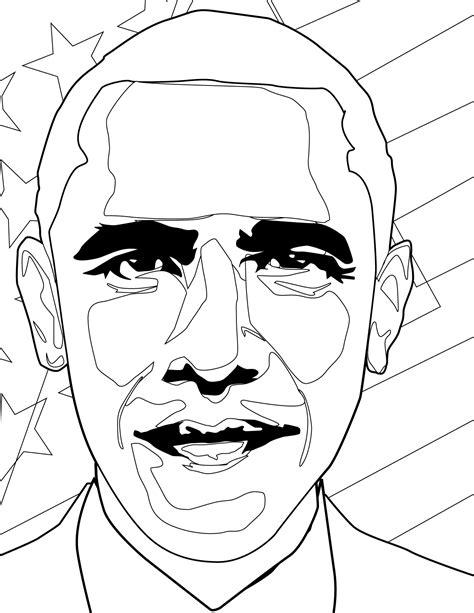 Barack Obama Coloring Page Handipoints Barack Obama Coloring Page