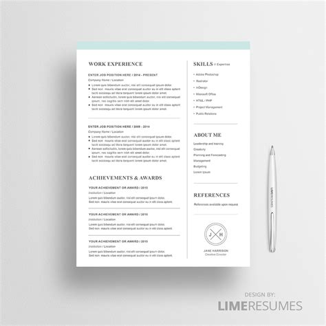 Modern Resume Template For Microsoft Word Limeresumes Contemporary Resume Templates Free Word