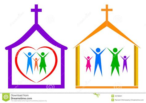 family going to church together clipart collection