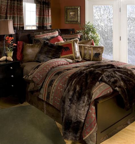 country bedroom comforter sets bear country bedding set