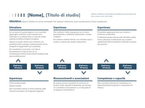 modello di cv cronologico curriculum cronologico office templates