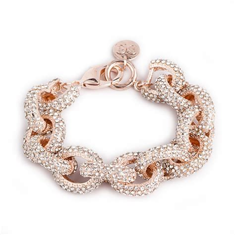 rose gold rose gold pave beauty bracelet derng