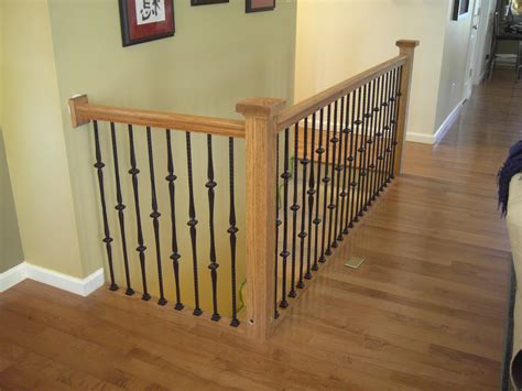 metal banisters st louis stair wood works metal or wrought iron