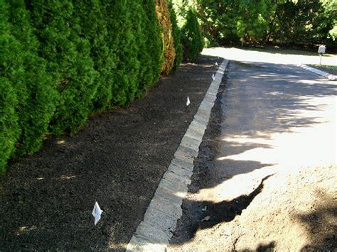 driveway edging sidewalk edging and pavers dressing up an asphalt