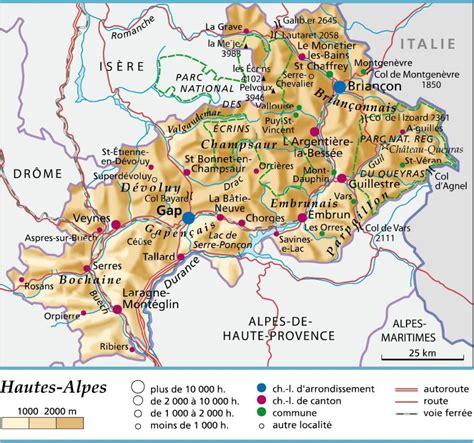 Hautes alpes carte Arts et Voyages