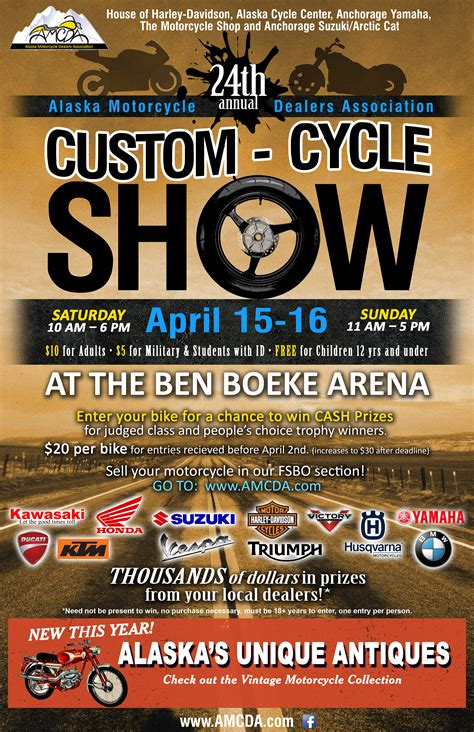 Motorcycle Dealers Anchorage by Alaska Motorcycle Dealers Association Custom Cycle Show