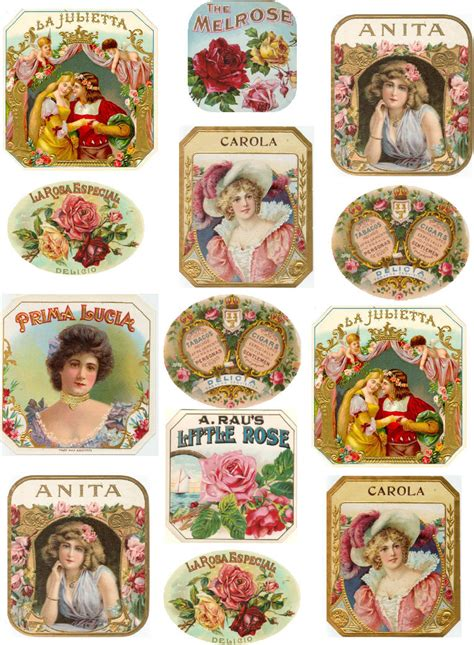 printable old labels antiques atlas art nouveau european perfum labels