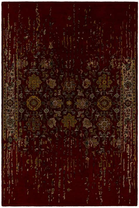 Maroon Area Rugs by Collection Tufted Area Rug In Maroon Gold