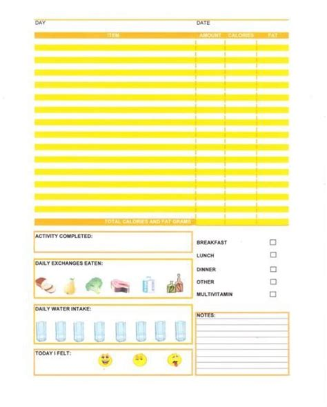 printable diet journal other printable images gallery category page 21