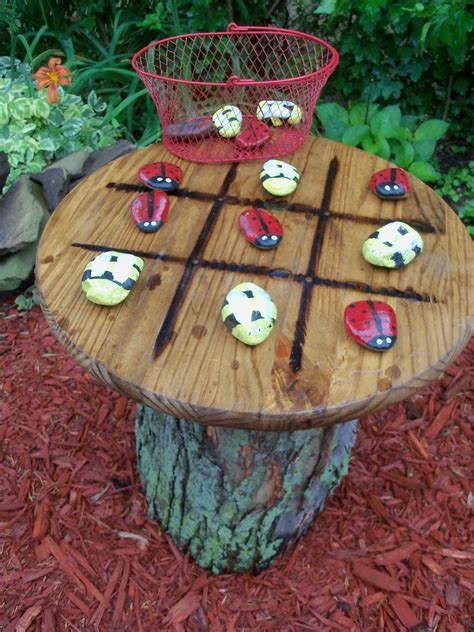 hometalk tic tac toe garden table