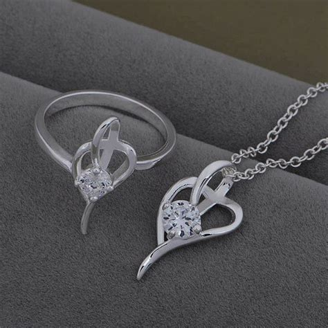 silver plated jewelry sets silver jewelry set bling
