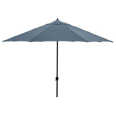 Canvas Patio Umbrella Hton Bay 11 Ft Aluminum Patio Umbrella In Sunbrella Canvas Sapphire 9111 01052100 The Home