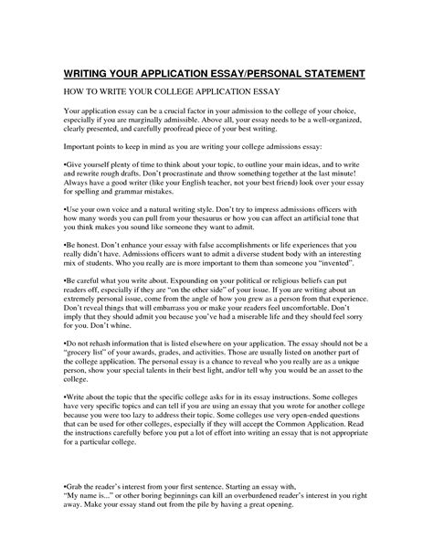 sle college transfer essay sle college admission essays personal statement 28