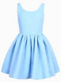 sleeveless skater dress in blue choies clothes i need