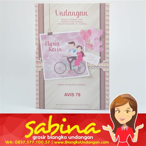 Sale Blangko Undangan Undangan Pernikahan Nc 13 sabina pusat blanko undangan pernikahan jakarta surabaya
