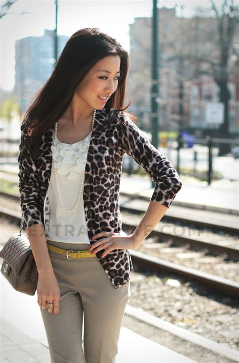 Zera Crop Cardi how to style a leopard cardigan for casual and work wear