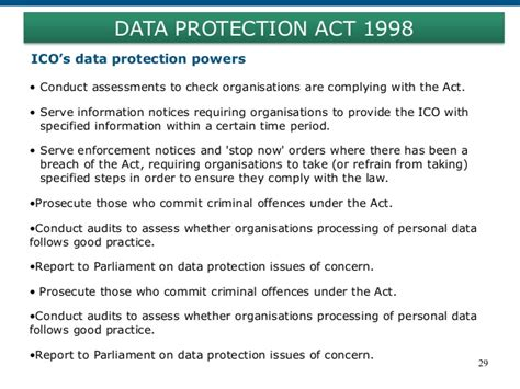 data protection act 1998 section 29 legal compliance for doing business in united kingdom and