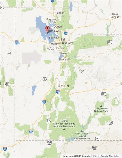 map world slc ut great salt lake on map of utah world easy guides