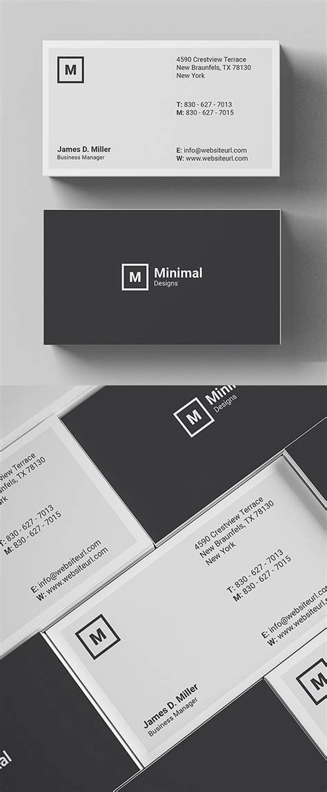 Minimalist Business Card Template Psd by 25 Minimal Clean Business Cards Psd Templates Idevie