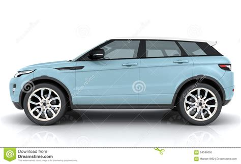 Light Blue Range Rover Stock Photo Image 64346695