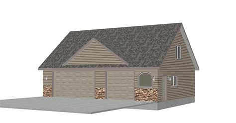g433 30 x 30 detached garage with bonus truss sds plans g424 plans thomas 8002 119 40x30 x 9 detached garage with