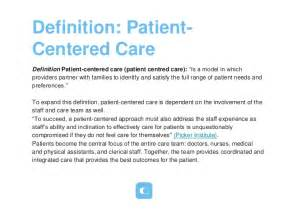 definition patient centered care