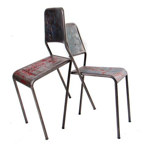 chaise en fer tr 232 s tendance chaise drum fer et bidons de r 233 cup