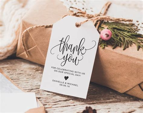thank you tag wedding thank you tags gift tags wedding