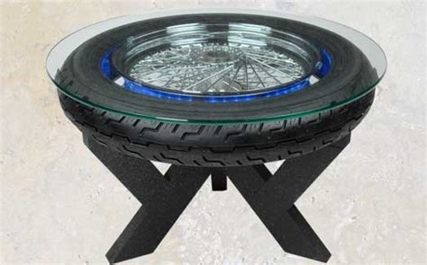 auto wheel tire coffee table