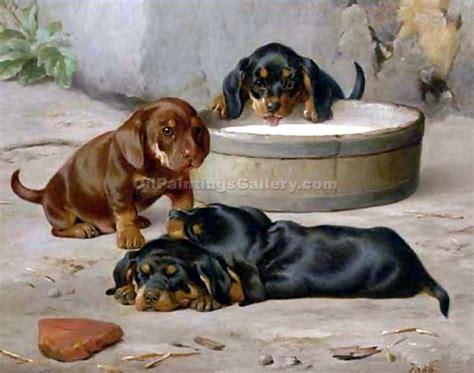 dachshund puppies idaho dachshund puppies by otto bache painting id an 0319 ka